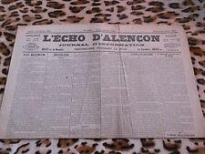 Journal - L'Echo d'Alençon n° 1384, 03/11/1921
