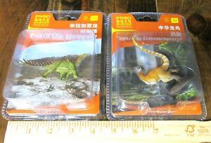 PNSO mini dinosaur models--Miragaia and Sinosauropteryx