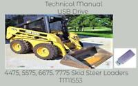 John Deere 4475 5575 6675 7775 Skid Steer Loaders Technical Manual TM1553 USB