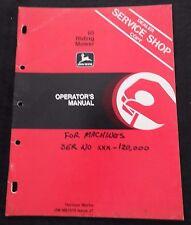 ORIGINAL 1977 JOHN DEERE 65 RIDING MOWER OPERATORS MANUAL VERY CLEAN