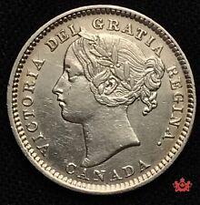 1893 Canada 10 Cents Flat Top 3 OBV6 - EF - Lot#412