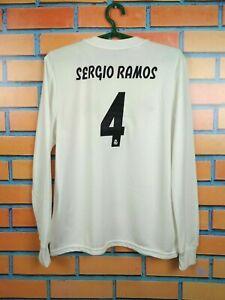 Sergio Ramos Jersey 2018 2019 Long Sleeve Youth 13-14 Shirt Adidas CG0546