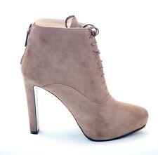 Prada Lace-Up Suede Platform Ankle Booties EU 38.5 US 8.5 Boots