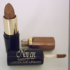 New Eve Trendy BRONZE  Match it Lipstick and Lip Gloss Cosmetic  Makeup
