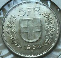 1954 B Switzerland 5 Francs