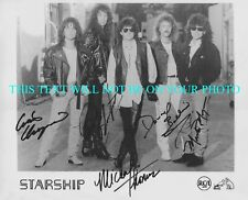 STARSHIP BAND SIGNED AUTOGRAPH 8x10 RP PHOTO WE BUILT THIS CITY MICHAEL THOMAS +