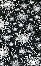 PLUS Size Black White Floral Leggings Lilly Pond Printed Nature Flowers Curvy