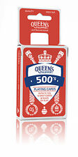 QUEEN'S SLIPPER 500'S RED DECK OF PLAYING CARDS CASINO SLIP BRIDGE SIZE GAMES