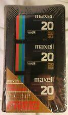 NEW SEALED 3-Pack Maxell HGX-Gold Premium High Grade TC-20 Blank Tapew/Album