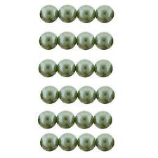 Czech 8mm Glass Beads Pearls Sage Green C8080 Round Beads Sage Green Pearls
