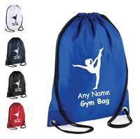 Personalised Drawstring Bag School Gym Kit Backpack Dance Kids Sport PE Gift