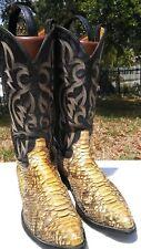 Mens Tony Lama Size 8.5 D Snakeskin Cowboy Boots