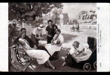 ART - PEINTURE ,FEMME NOURRICE au JARDIN DU LUXEMBOURG par Japonais M. SHIMAMURA