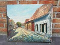 Ancienne peinture sur toile L 55 H 46 signée Laloux, Vintage, peintre, Chemy