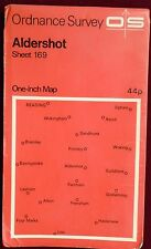OS 1971 COLOURED PAPER MAP of ALDERSHOT SHEET 1693 ONE-INCH Price 44p