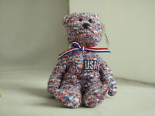 TY USA Bear Beanie Baby Mint with Mint Tags