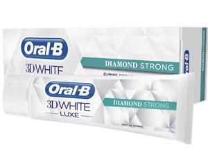 Lot de 3 dentifrices Oral B 3D white diamond strong 75ml