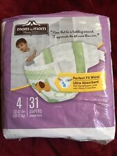Mom To Mom Disposable Diapers Size 4 (22-37lbs) 31 Ct Compare to Pampers