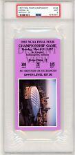 1997 NCAA FINALS BASKETBALL CHAMPIONSHIP TICKET STUB PSA 9 MINT ARIZONA KENTUCKY