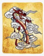 "Disney Mulan Mushu Smoke Plush Soft Silk Touch Throw Blanket 48"" X 60"" NWT!"