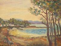 1931 HUILE SUR PANNEAU PAYSAGE DU SUD LA NARTELLE ST MAXIME SIGNEE TESSAIRE