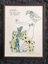 "EDWINA SANDYS MBE b1938 Limited Ed LITHOGRAPH ""Jezebel"" 6/450"