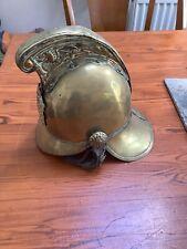 More details for brass fire helmet merryweather pattern.