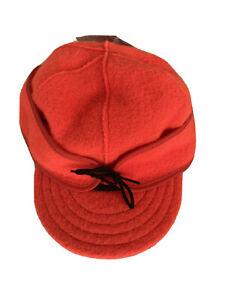 Stormy Kromer Original Kromer Cap - Winter Wool Hat with Earflap Orange New XL