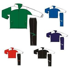 Men Athletic Warm Up Jacket Pant Waterpoof Resistant trackSuit Pocket Women Kid