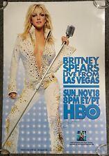 Britney Spears JSA Signed Autograph Poster Vegas HUGE 27 x 40 Live From Vegas