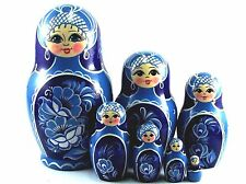 Nesting Dolls Russian Matryoshka Traditional Babushka Stacking Wooden Toys set 7
