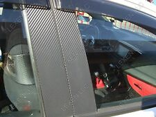"16"" X 60"" BLACK CARBON FIBER WRAP FOR PILLAR POSTS UNCUT ROLL e"