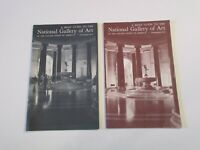 Lot of 2 Vintage National Gallery of Art Pictorial Travel Booklet Book~Box O
