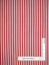 Patriotic Red & Cream Stripe Cotton Fabric Riley Blake Lost Found America - Yard