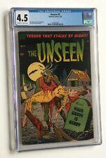 Unseen #9 1953- graveyard terror-pre-code horror* CGC 4.5