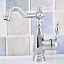 Chrome Bathroom Sink Basin Faucet Swivel Spout Single Handle/Hole Mixer Tap
