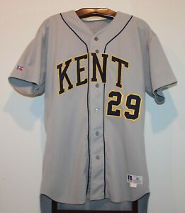 RUSSELL ATHLETIC GAME WORN NCAA KENT STATE GOLDEN FLASHES BASEBALL JERSEY