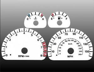 2003-2004 Jaguar S Type MPH Dash Cluster White Face Gauges 03-04