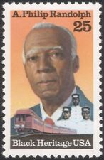 USA 1989 A Philip Randolph/Black Heritage/i sindacati/Ferrovia Treni/1 V n44825