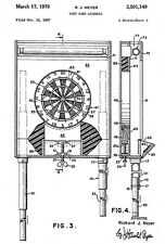 1970 - Dart Board - Game - R. J. Meyer - Patent Art Poster
