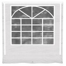 Partyzelt Seitenwand mit Fenster weiß Ersatz PVC 3x4- 8x12 Seitenteil Pavillon