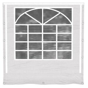 Partyzelt Seitenwand mit Fenster weiß Ersatz PVC 3x4 - 8x12 Seitenteil Pavillon