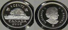 2008 Canada Frosted Silver 5 Cent Beaver Nickel Proof