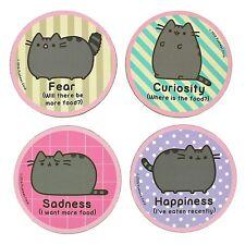 Pusheen Cat Kitten Coasters Official Pusheen. 4 Cute designs in 1 pack. Free P&P