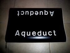 7d96c56a6 1969 R16 NYC SUBWAY SIGN AQUEDUCT RACE TRACK QUEENS NYCTA NY TRANSIT ROLL  SIGN