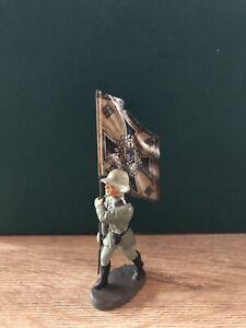 Elastolin : Allemand Drapeau Bearer. 70mm Échelle Pré War , c1940