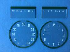 1938 Packard Speedometer Gauge and Clock Lenses