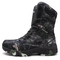 Men Camouflage Army Boots Waterproof Hiking Shoes High Top Combat Military Shoes