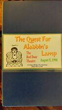 THE QUEST FOR ALADDIN'S LAMP. THE RED DOOR THEATRE. AUGUST 5, 1994 RARE VHS