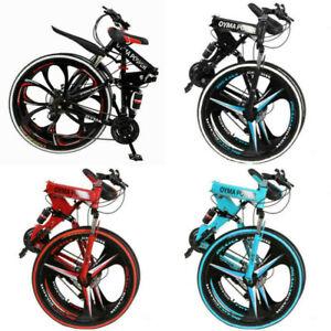 Folding/Full Suspension Mountain Bike Road 21 Speed Men's Bikes Bicycle MTB